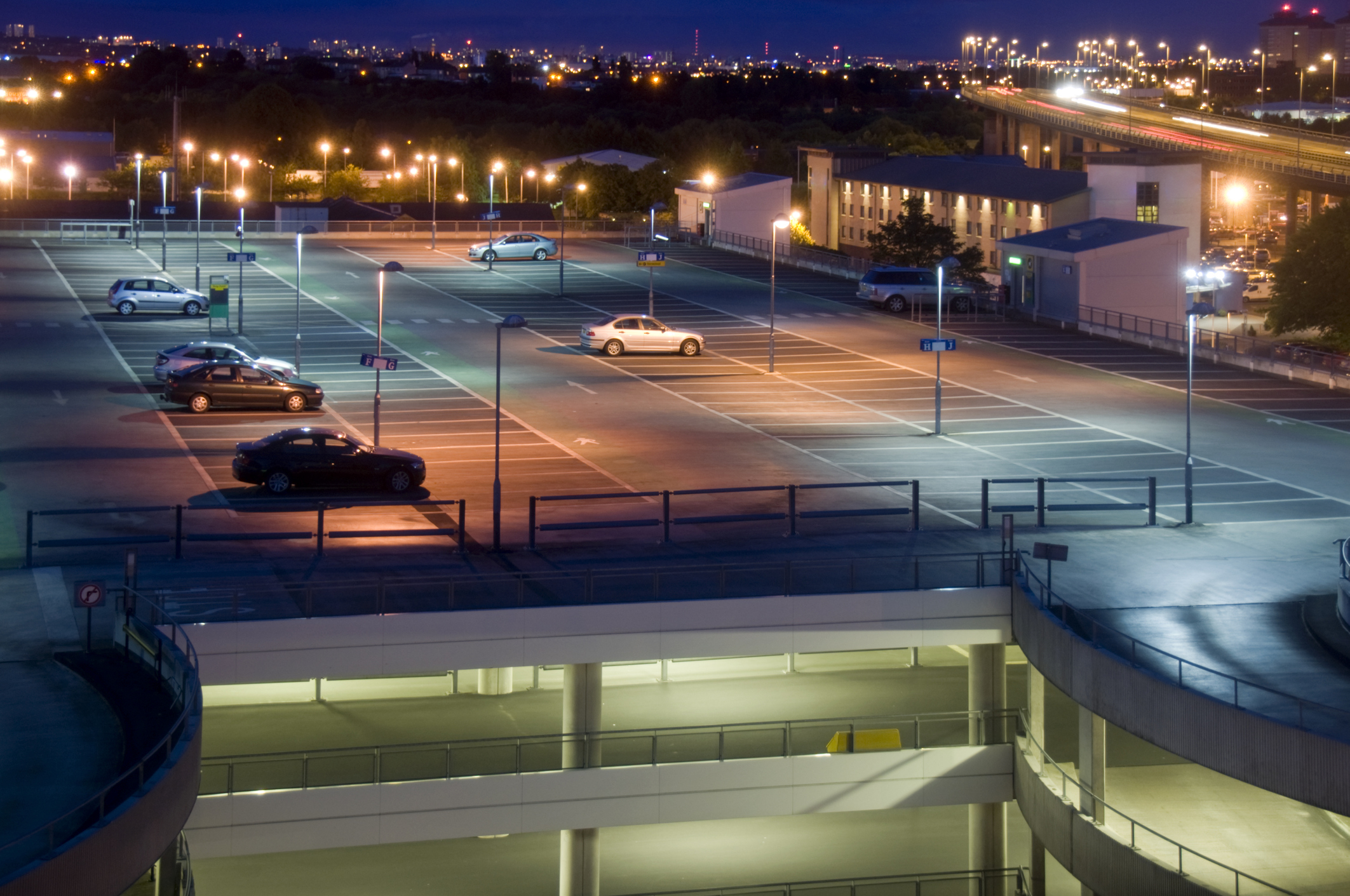 Parking Lot Lighting at night