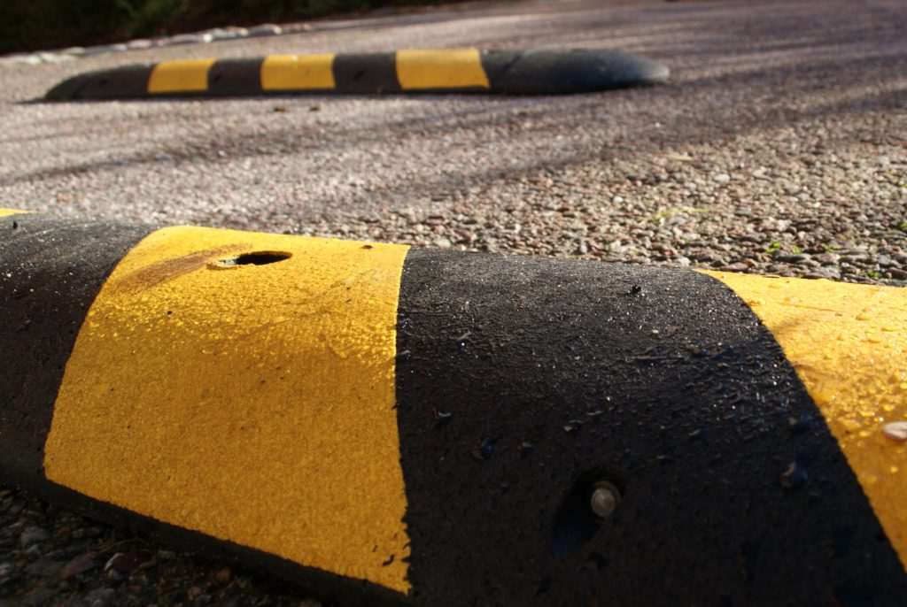 Speedbumps on a sunny morning.